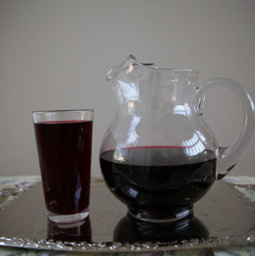 Hibiscus flower drink or Kerkede