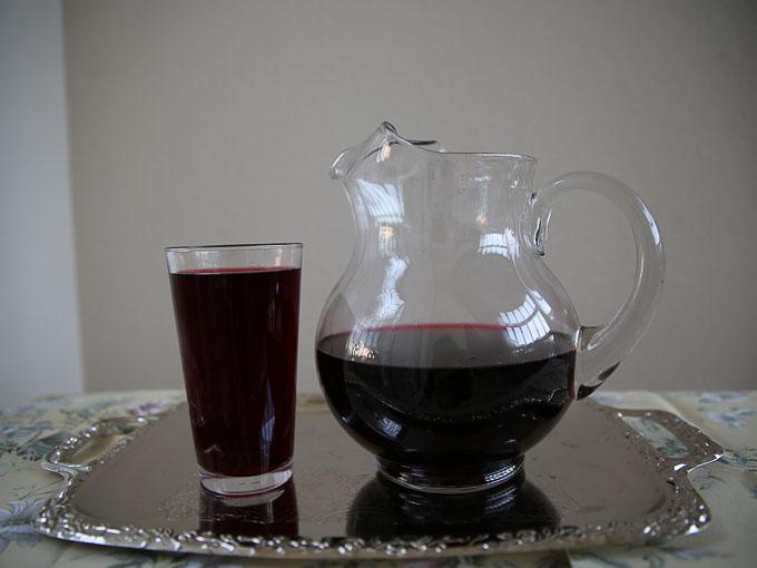 Hibiscus flower drink or Kerkede