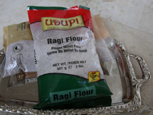 Pictured above is finger millet flour