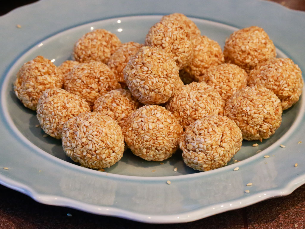 Sesame seed candy. Crunchy.