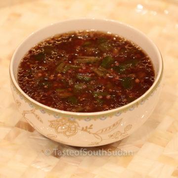 African Okra Soup with Kombo II Mula Kombo ta Bamia, Taste of South Sudan, South Sudan food, Sudan food, African Okra, Okra soup, Okro Soup,