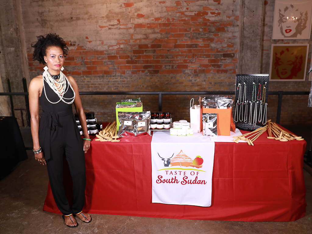 Taste of South Sudan booth at South Sudan Unite, Sudan, South Sudan