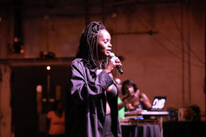 Rapper Khat Dhiew performs at South Sudan Unite 5th conference