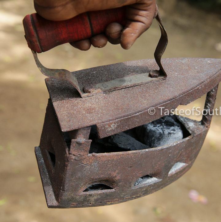 Antique Cast Iron Charcoal Iron, Juba , South Sudan. Taste of South Sudan