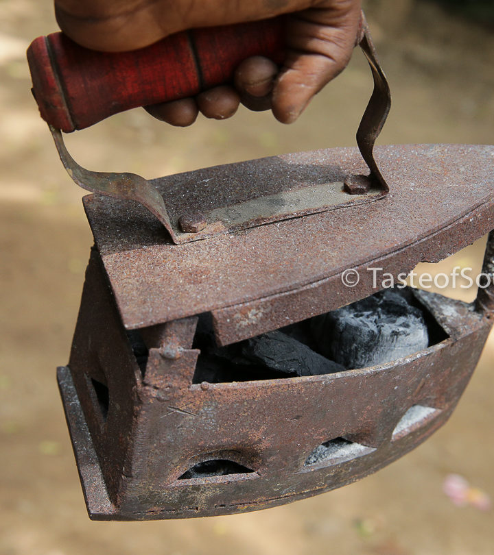 Antique Cast Iron Charcoal Iron, Juba , South Sudan. Taste of South Sudan